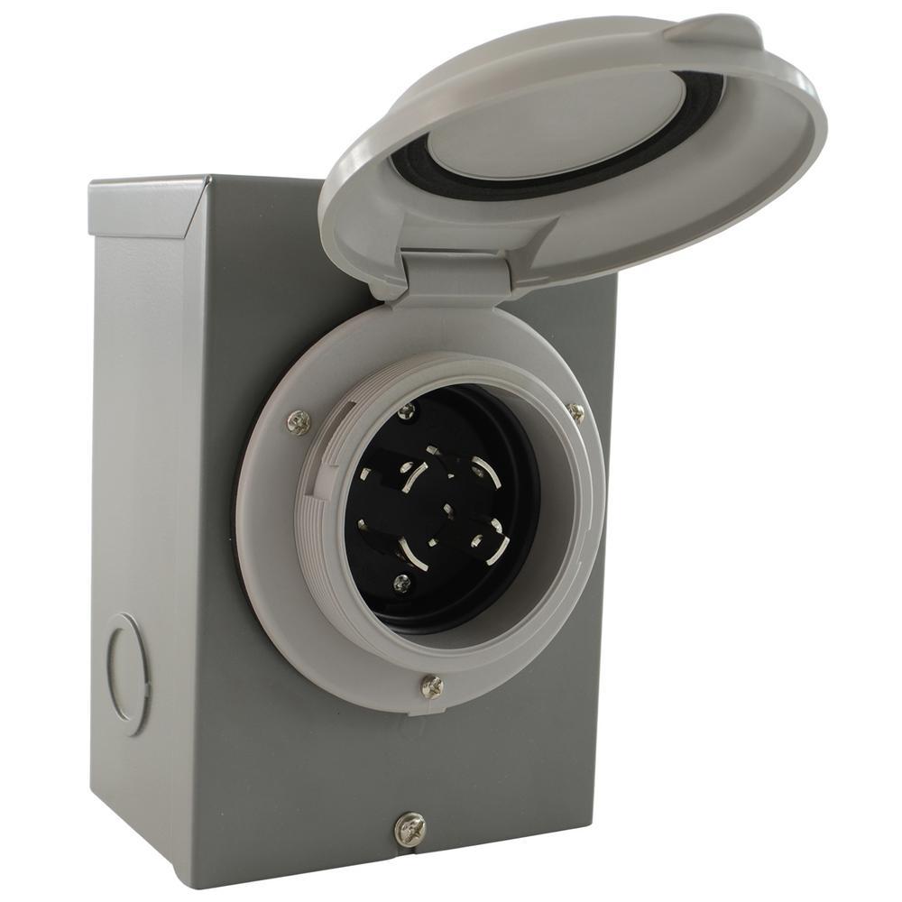 DIY Wiring Generator/Industrial NEMA L14-30P 30 Amp 125/250-Volt 4-Prong Locking Power Inlet Box