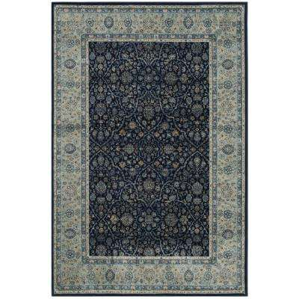 Persian Garden Vintage Navy/Light Blue 6 ft. 7 in. x 9 ft. 2 in. Area Rug