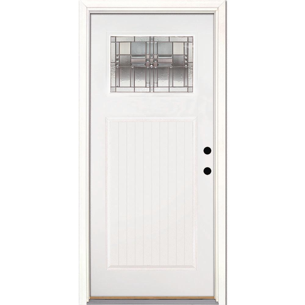 feather river doors 37 5 in x in monroe zinc. Black Bedroom Furniture Sets. Home Design Ideas