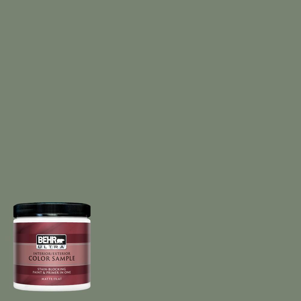 Behr Ultra 8 Oz Icc 77 Sage Green Matte Interior