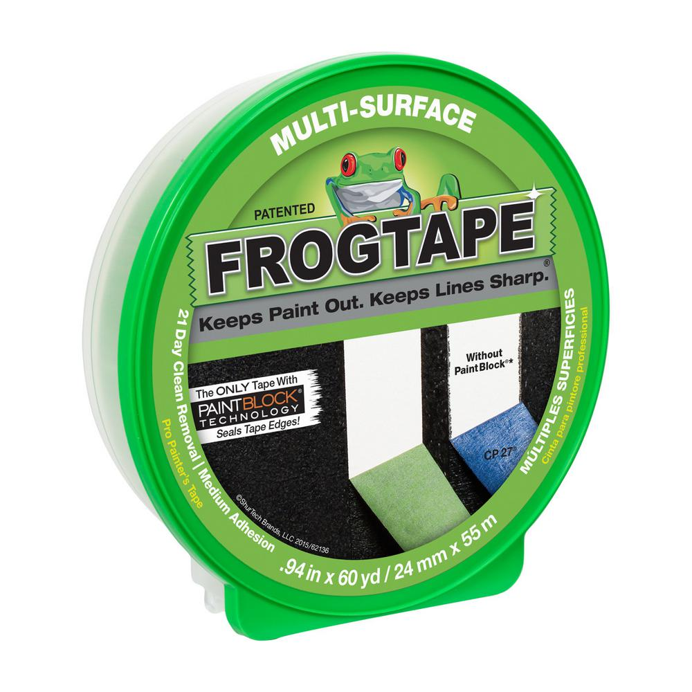 FrogTape Multi-Surface 0.94 in. x 60 yds. Painter's Tape with PaintBlock (36-Pack)