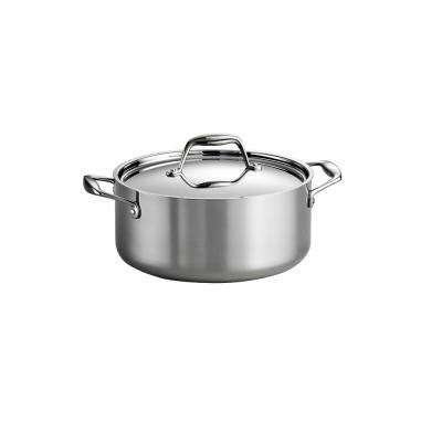 Gourmet Tri-Ply 5 Qt. Stainless Steel Dutch Oven with Lid