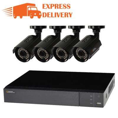 4-Channel 1080p 1TB Surveillance System and 4 HD Cameras with 100 ft. Night Vision