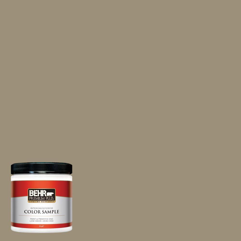 BEHR Premium Plus 8 oz. #730D-5 Village Square Interior/Exterior Paint Sample