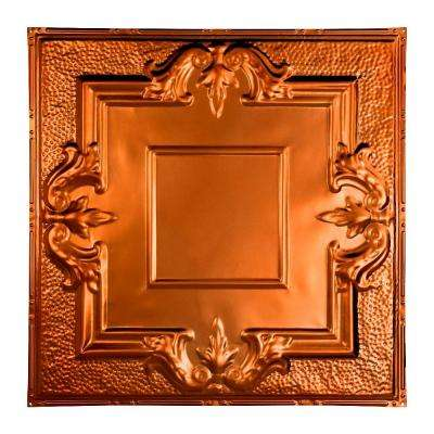 Niagara 2 ft. x 2 ft. Nail-up Tin Ceiling Tile in Copper