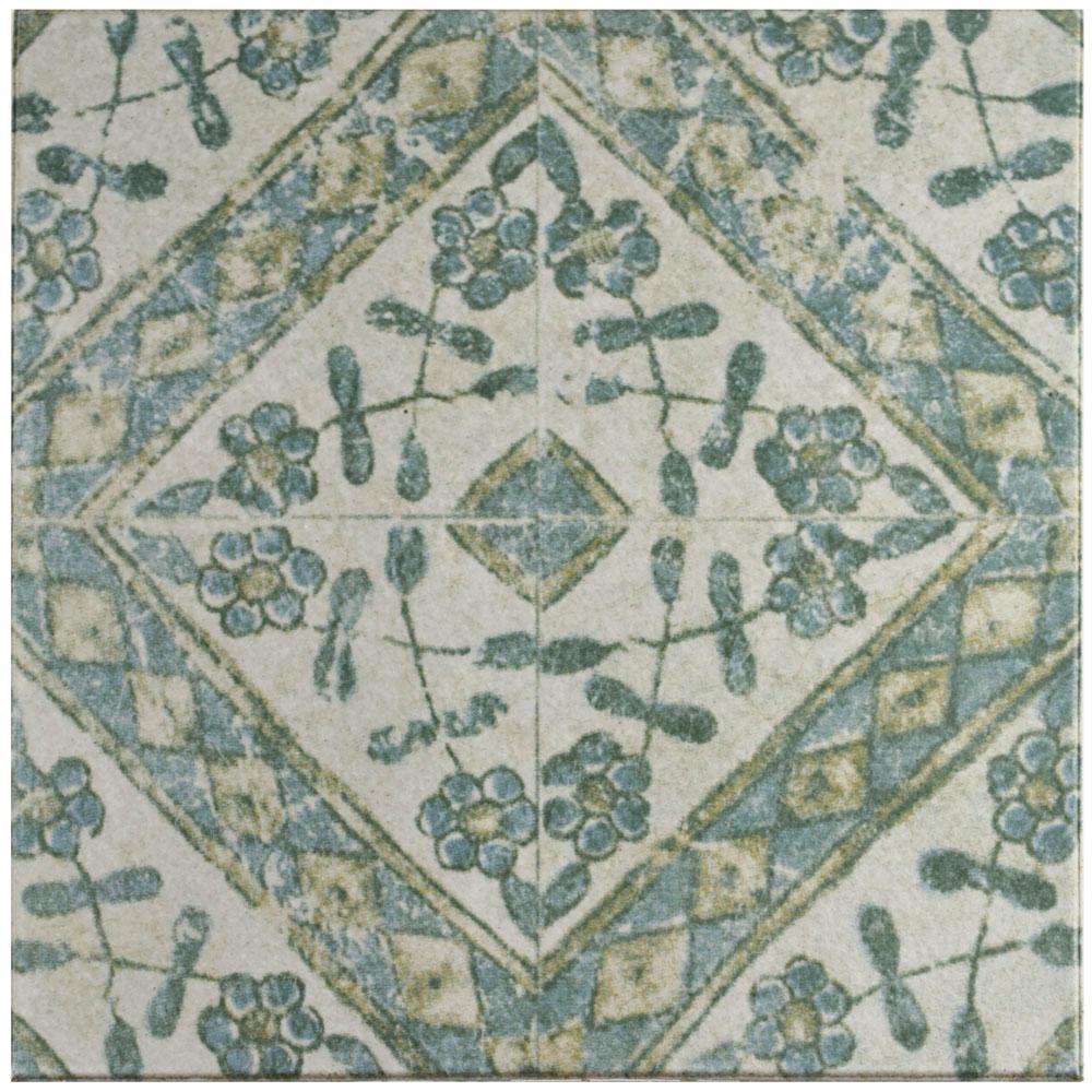 Klinker Retro Blanco Bergenia 12-3/4 in. x 12-3/4 in. Ceramic Floor
