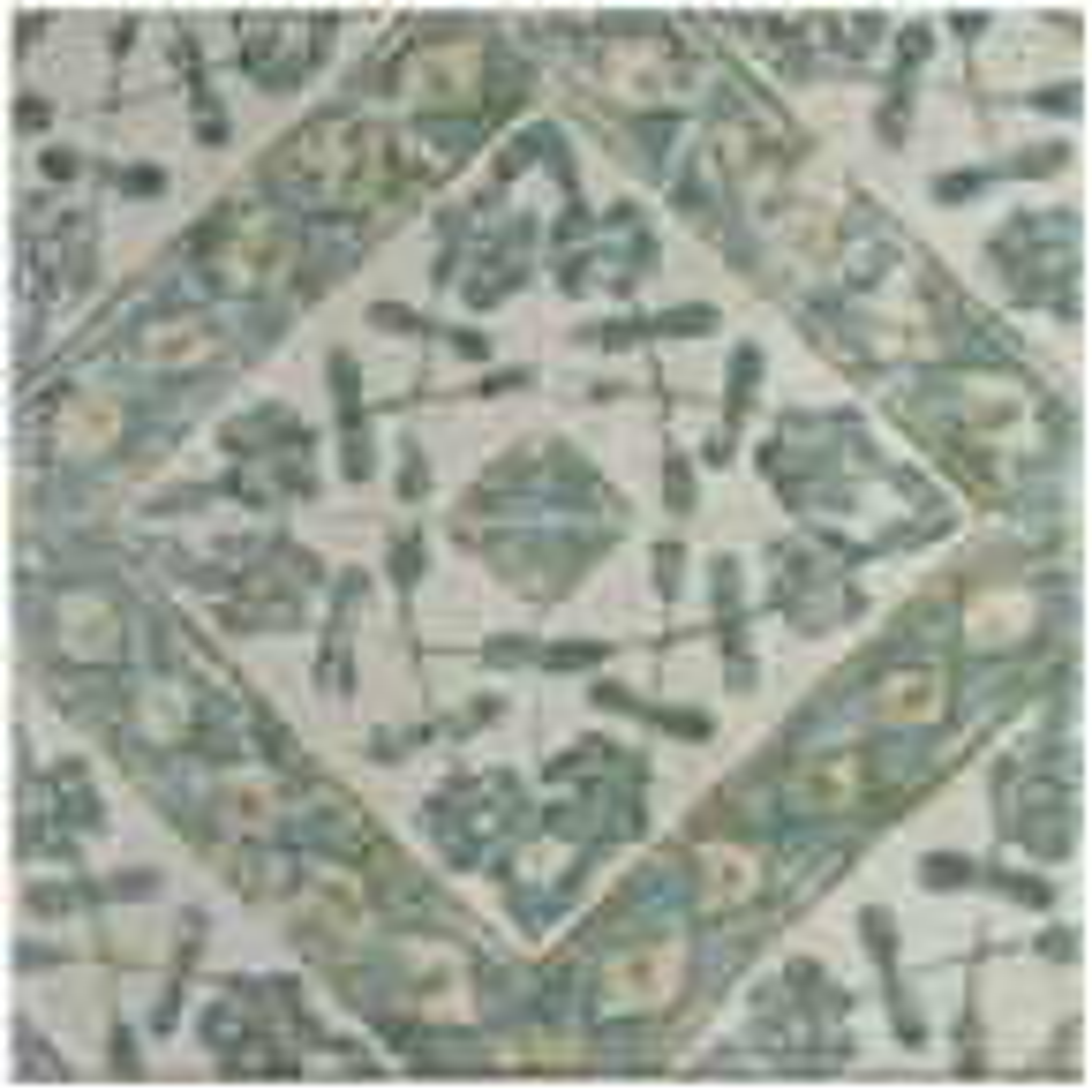 Klinker Retro Blanco Bergenia Encaustic 12-3/4 in. x 12-3/4 in. Ceramic Floor and Wall Quarry Tile