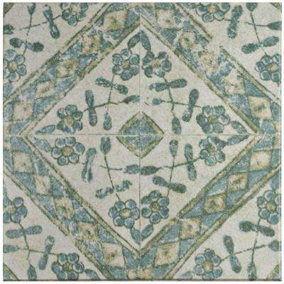 Klinker Retro Blanco Bergenia 12-3/4 in. x 12-3/4 in. Ceramic Floor and Wall Quarry Tile