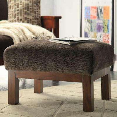 Preston Dark Brown Accent Ottoman