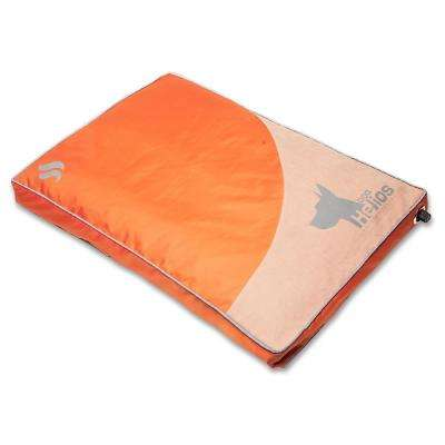 Medium Orange Aero-Inflatable Outdoor Camping Travel Waterproof Pet Dog Mat Bed