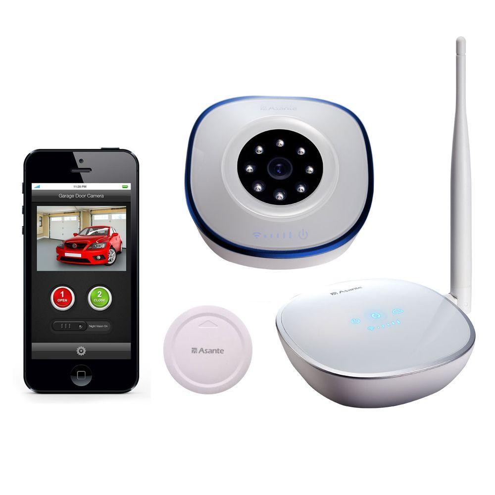 Garage Door Opener with Camera Kit + Sensor Receive Email and Text Notification on Status of Garage Door