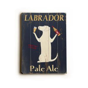 """14 in. x 20 in. """"Labrador Pale Ale by Ken Bailey """"Planked Wood"""" Wall Art"""