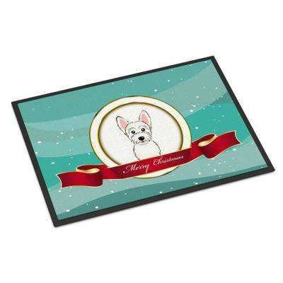 18 in. x 27 in. Indoor/Outdoor Westie Merry Christmas Door Mat