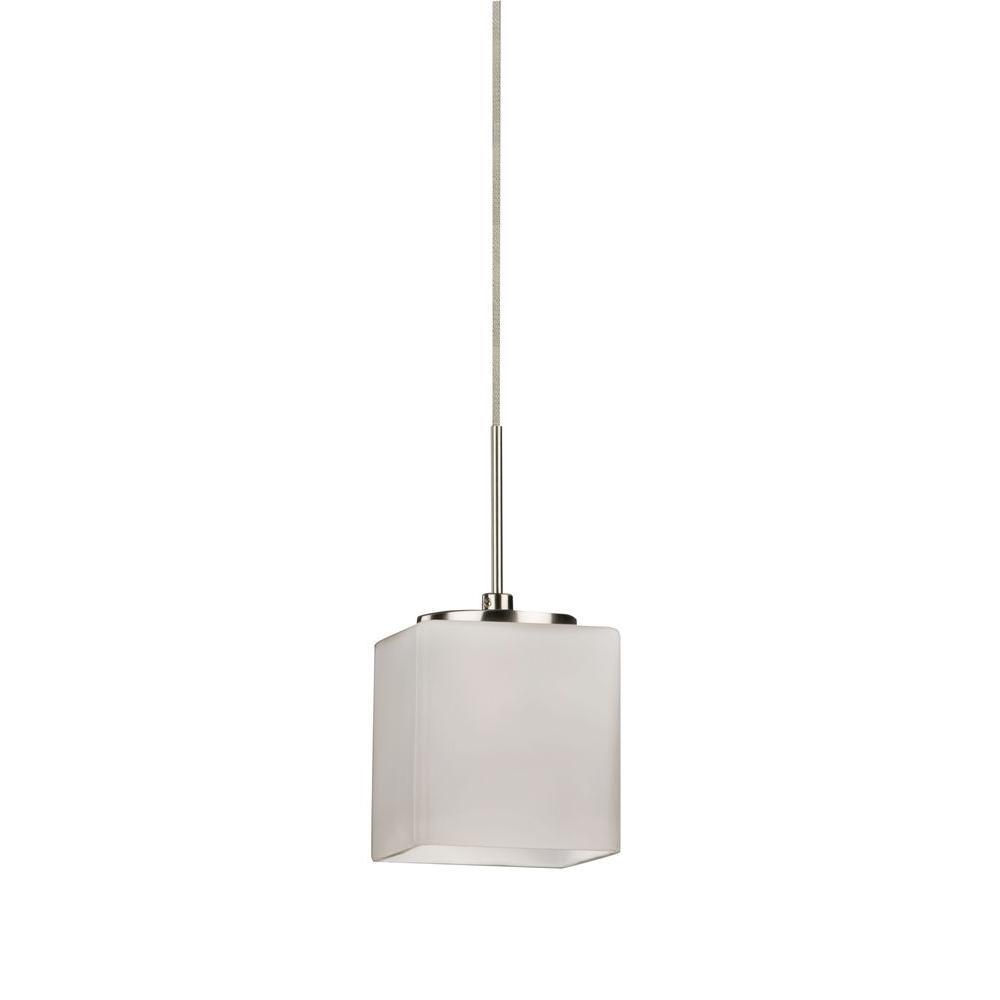 Radionic Hi Tech Orly 1-Light Satin Nickel LED Mini Pendant