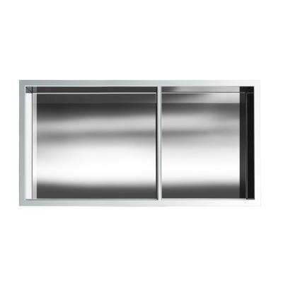 Showroom Series 12 in. x 24 in. Niche with Shelf in Polished Chrome