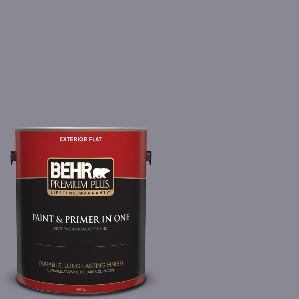 1 gal. #PPU16-15 Gray Heather Flat Exterior Paint