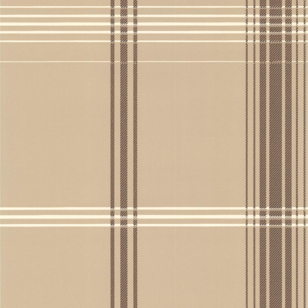 Brown Plaid Wallpaper: Oskar Brown Plaid Wallpaper-DL30476