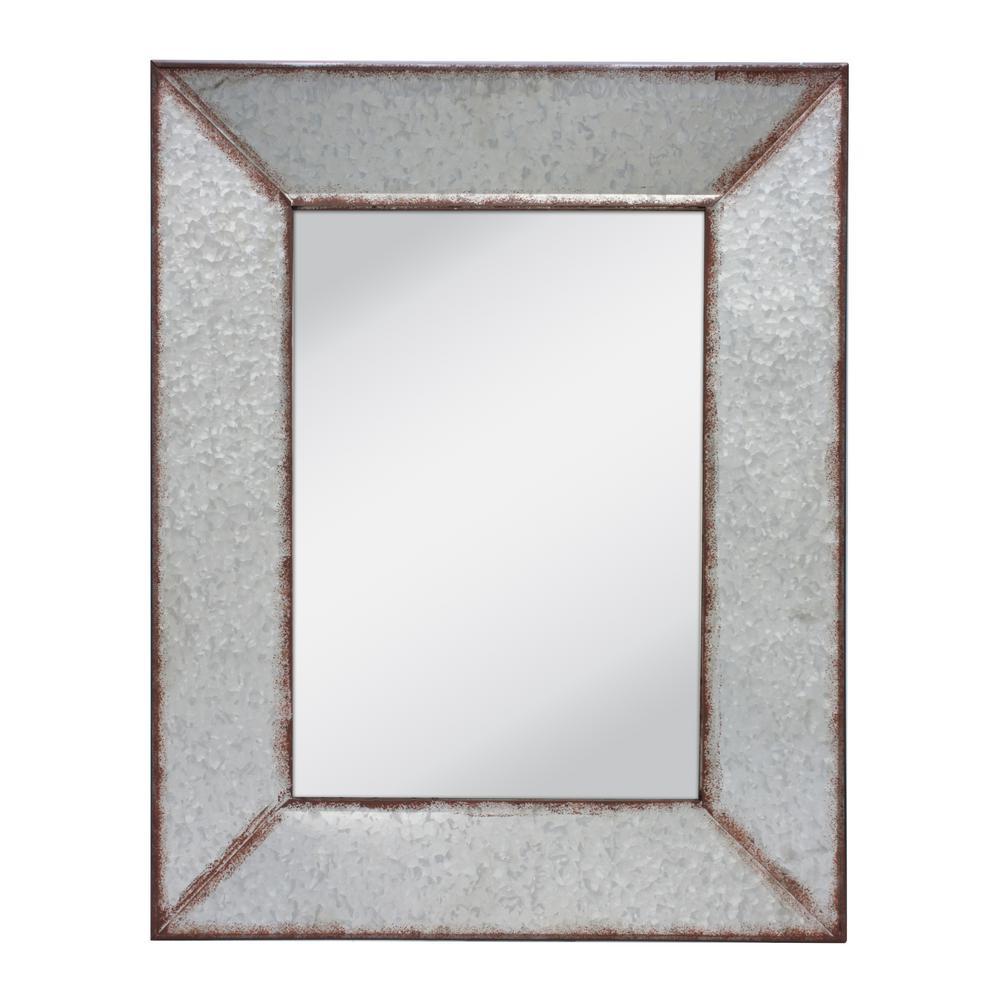 Silver Galvanized Wall Mirror