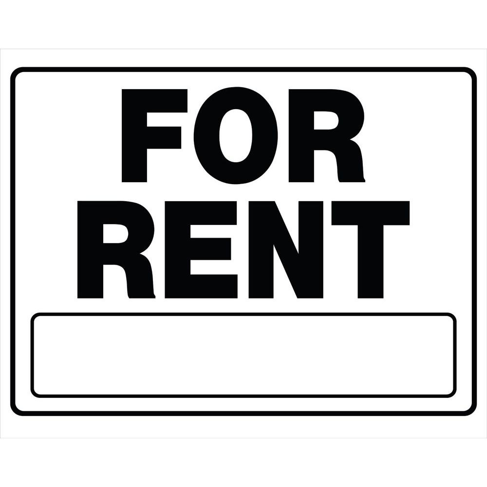 Black And White Corrugated Plastic For Rent Sign