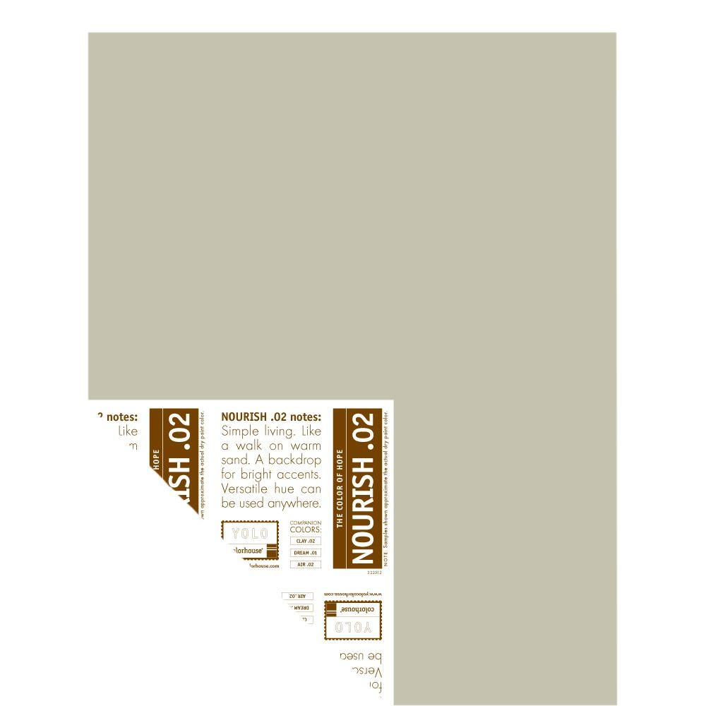 YOLO Colorhouse 12 in. x 16 in. Nourish .02 Pre-Painted Big Chip Sample
