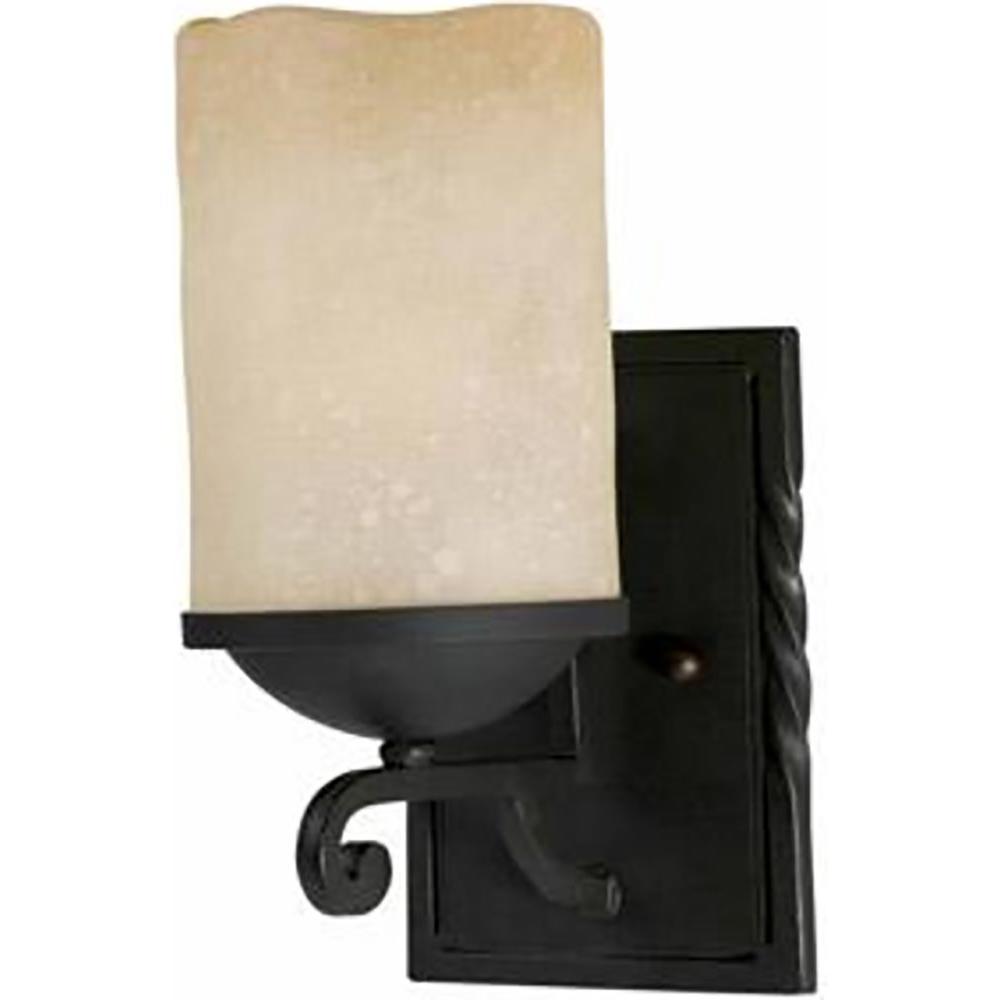 Kelab 1-Light Textured Black Wall Sconce