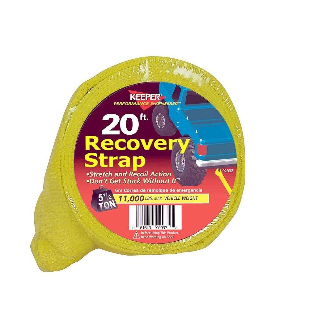 """Keeper 20' x 3"""" x 22,500 lbs. Vehicle Recovery Strap"""