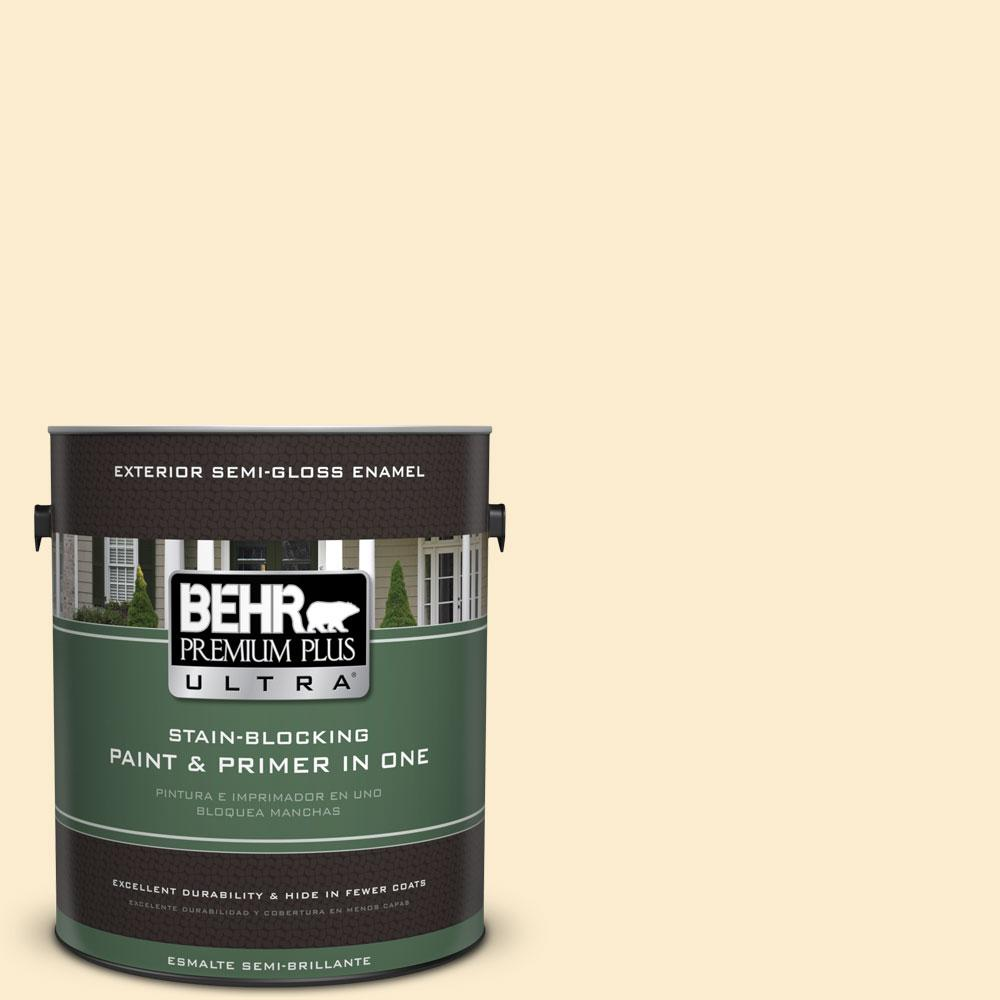 1-gal. #350E-2 Honey Moth Semi-Gloss Enamel Exterior Paint