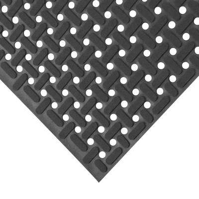 Paw-Grip Black 34 in. x 9 ft. Nitrile Non-Slip Rubber Mat