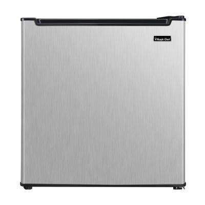 Freezerless 1.7 cu. ft. Mini Refrigerator in Stainless Steel