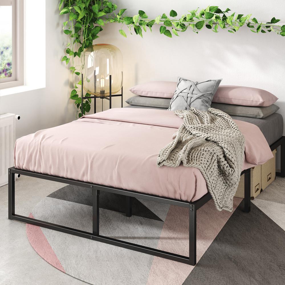 Zinus Lorelei 14 In Platforma Bed Frame Queen Hd Smpb 14q The Home Depot
