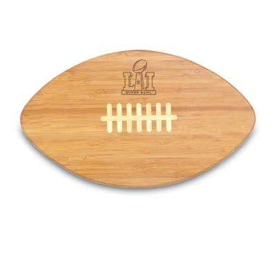 Super Bowl 51 Touchdown Pro Bamboo Cutting Board