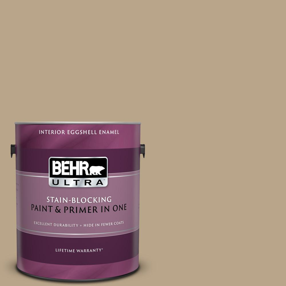 Behr Ultra 1 Gal 710d 4 Harvest Brown Eggshell Enamel Interior Paint And Primer In One