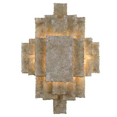 Bronson 2-Light Oxidized Silver Sconce