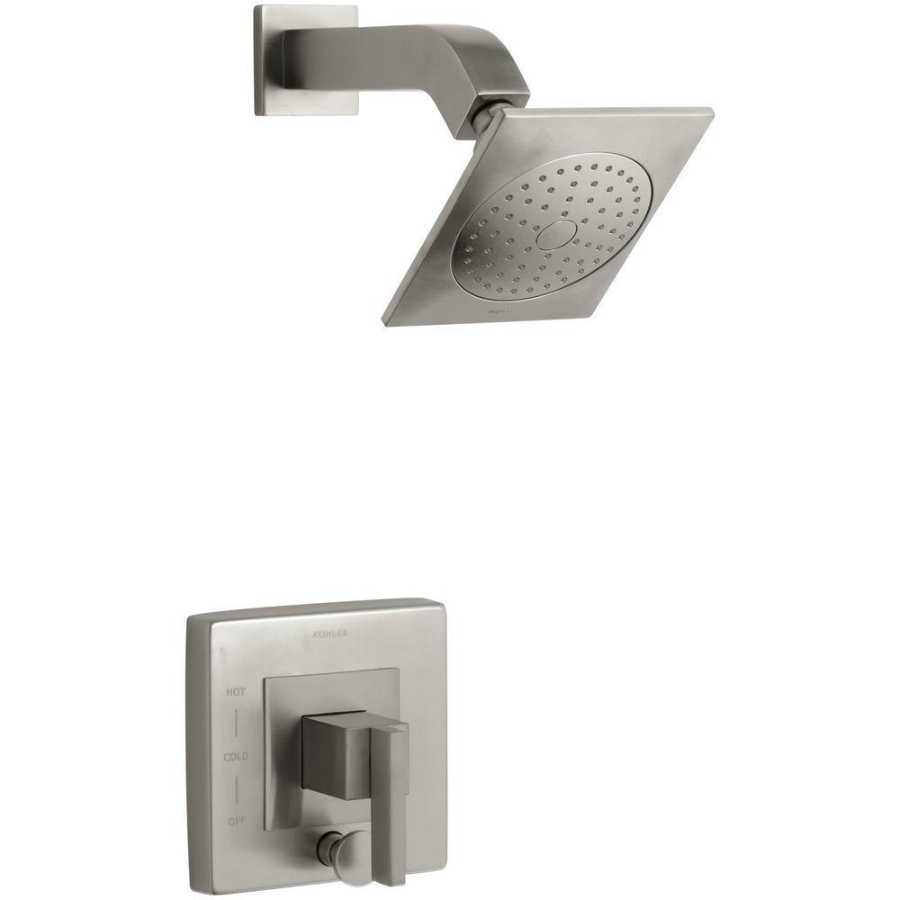 KOHLER Loure 1-Handle Shower Faucet Trim Kit with Diverter in Vibrant Brushed Nickel (Valve Not Included)