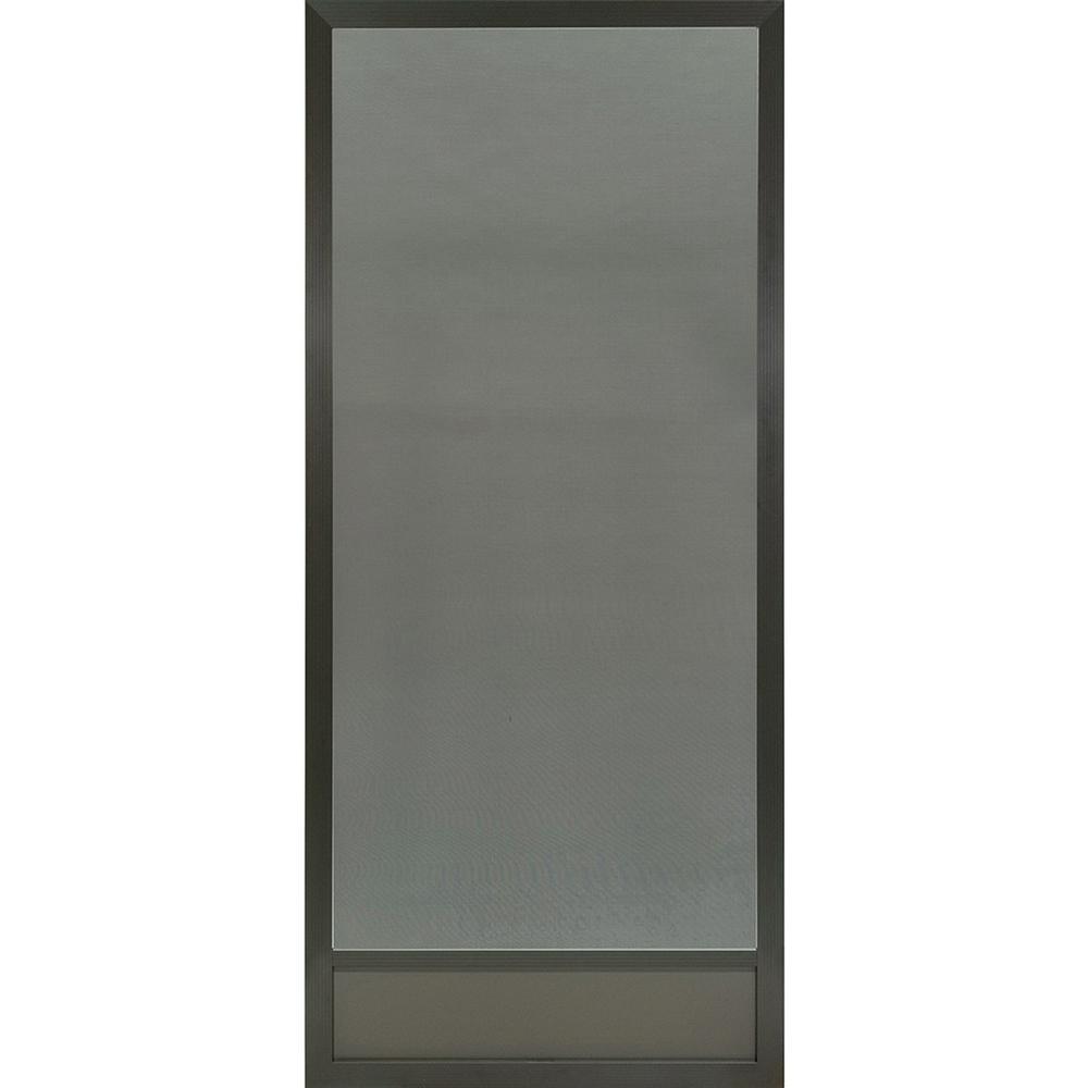 PCA Products 36 in. x 80 in. Still Waters Bronze Aluminum Screen Door