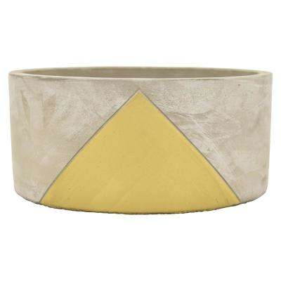 3.5 in. Planter - Grey/Gold