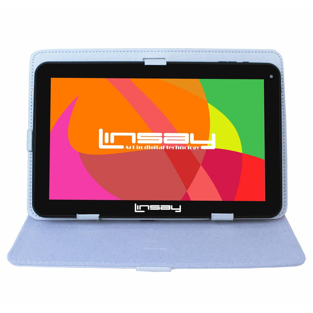 LINSAY 10.1 in. 2GB RAM 16GB Android 9.0 Pie Quad Core Tablet with White Case was $179.99 now $84.99 (53.0% off)