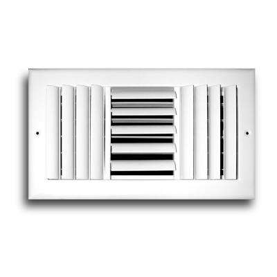12 in. x 12 in. 3-Way Adjustable Curved Blade Wall/Ceiling Register