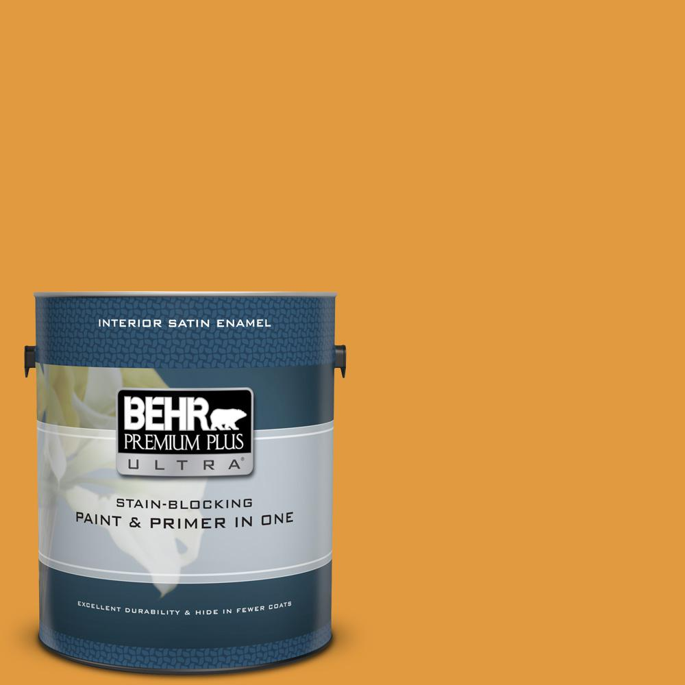 #T18-05 Life Is Good Satin Enamel Interior Paint and Primer in One  sc 1 st  Home Depot & BEHR Premium Plus Ultra 1 gal. #T18-05 Life Is Good Satin Enamel ...