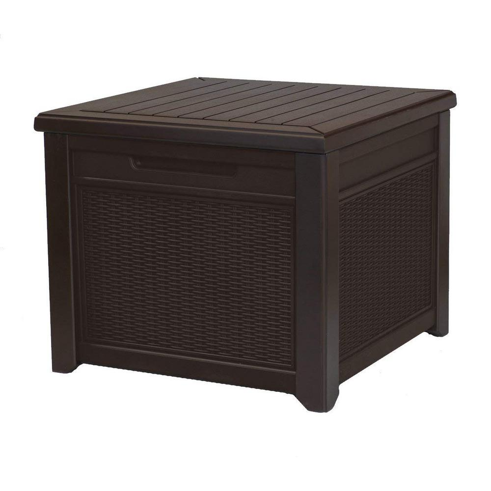 Keter Cube Rattan 55 Gal. Deck Box