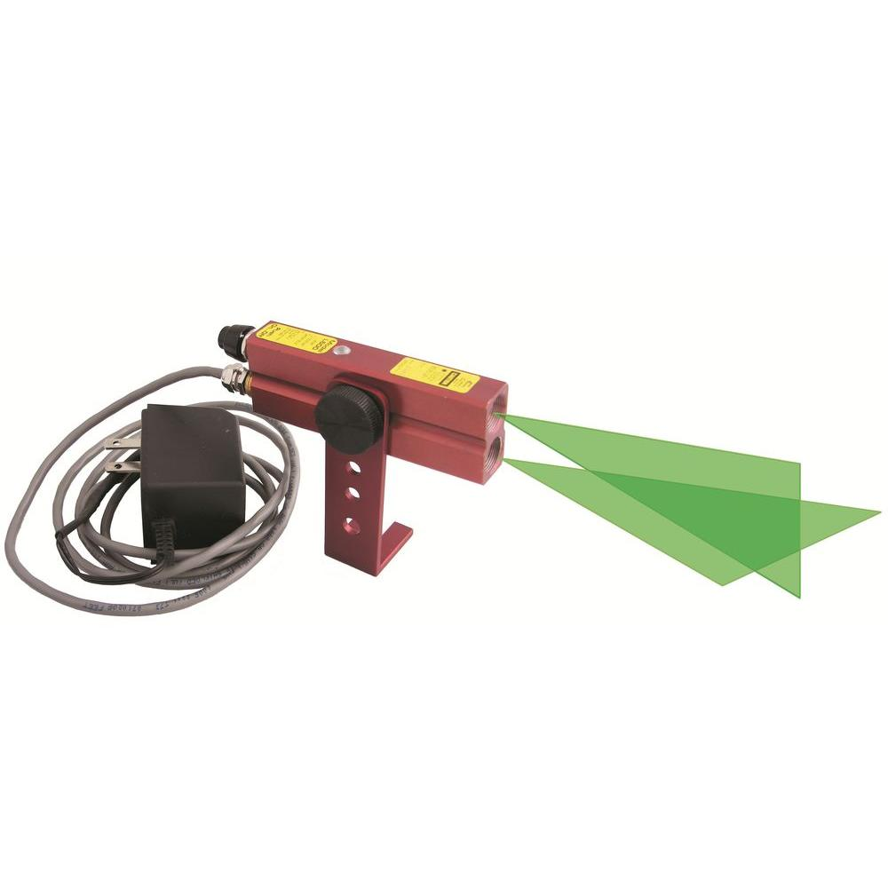 110-Volt AC Green Industrial Alignment Cross-Line Laser Level