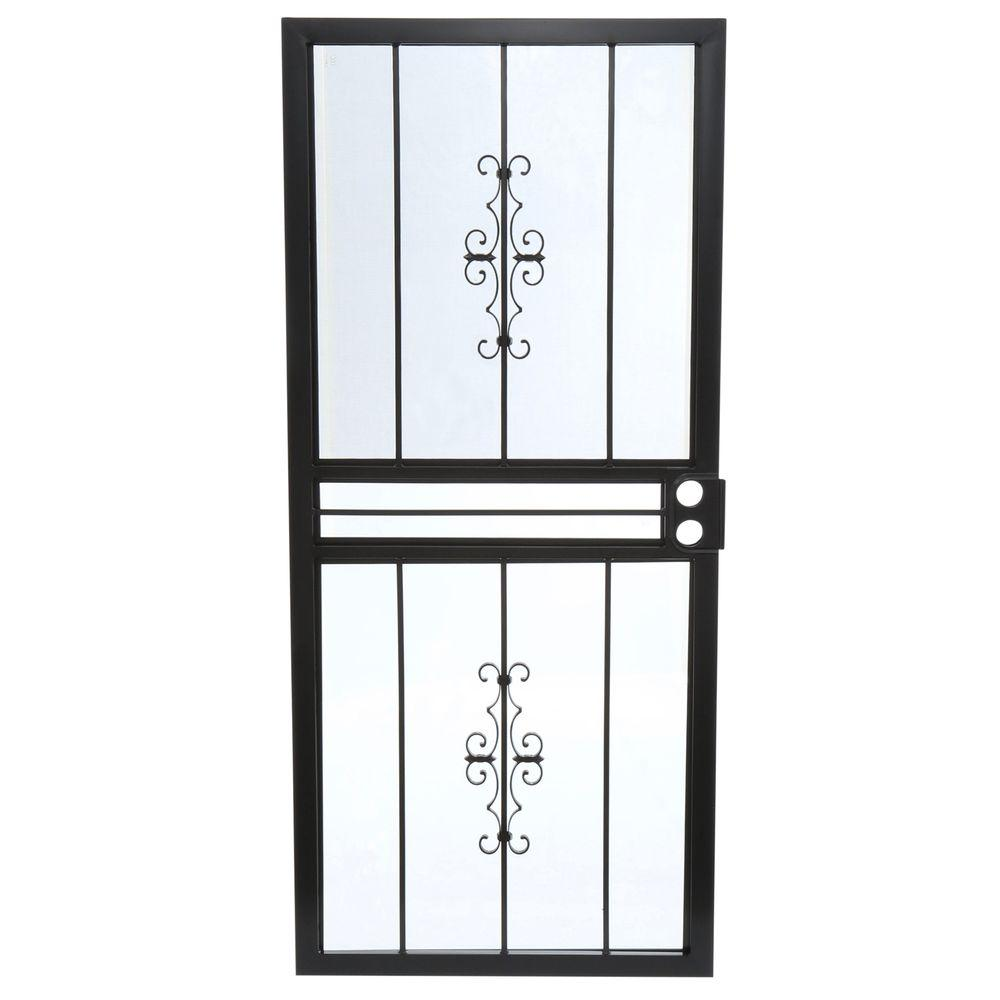 36 in. x 80 in. 501 Series Genesis Steel Black Prehung  sc 1 st  Home Depot : secuirty doors - pezcame.com