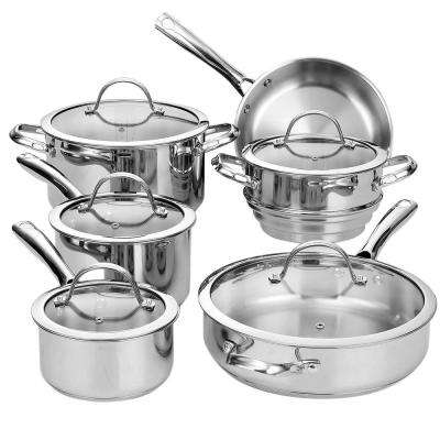 11-Piece Silver Cookware Set with Lids