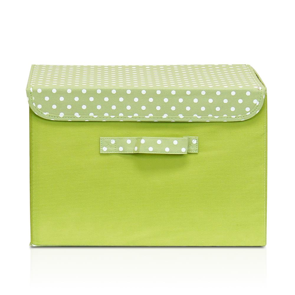 Incroyable Non Woven Fabric Green Storage Bin With