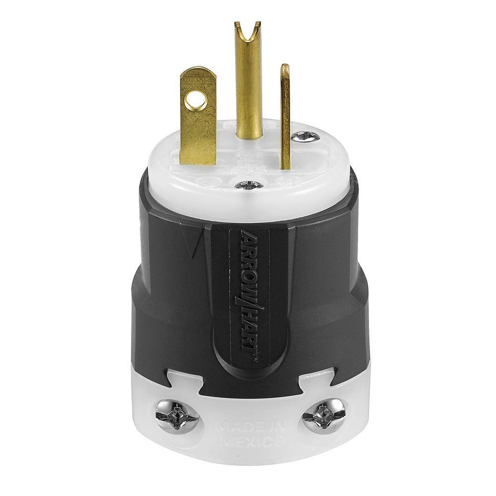 20 Amp 125-Volt 5-20 Ultra Grip Plug