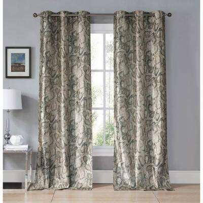 Beverly Kensie Taupe Grommet Panel Pair - 38 in. W x 96 in. L in (2-Piece)