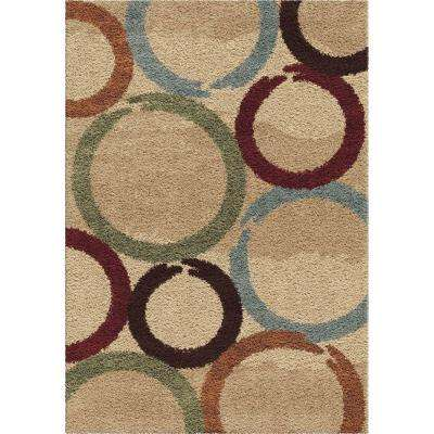 Coaster Ring Multi 5 ft. x 8 ft. Indoor Area Rug