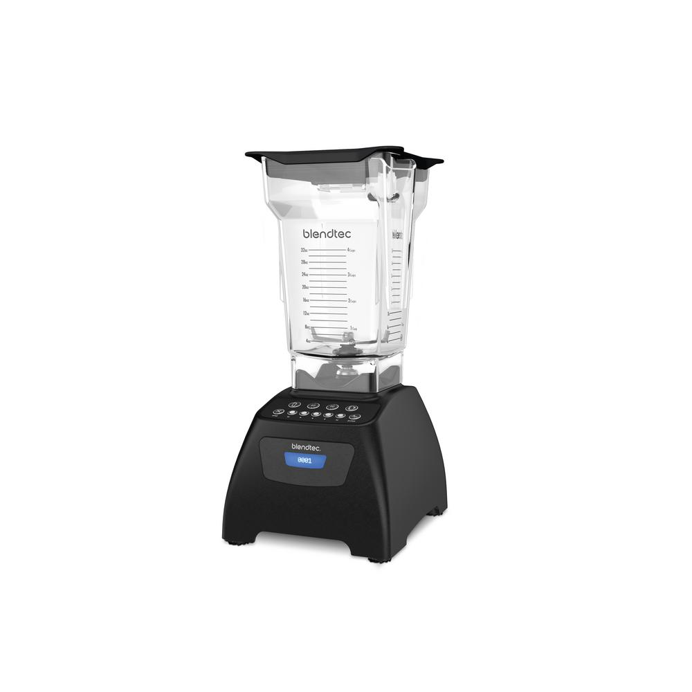 Classic 575 Blender Black with FourSide Every Blendtec is professional-grade with some of the most powerful motors in the industry, one of the longest warranties in the business, and fashion-forward industrial designs that look great on your countertop. Blendtec blenders are the most advanced blenders you can buy. Engineered and manufactured at our Headquarters in Orem, Utah. Duplicate your favorite restaurant's smoothies and mixed drinks at home. The Blendtec Classic 575, is the ultimate all-in-one appliance. Pre-programmed cycles make it easier than ever to create smoothies, salsas, hot soups, and more. Our unique clean cycle takes the work out of cleanup. The Blendtec Classic 575 offers two timed cycles that free your hands for other kitchen tasks. Simply press the 60 or 90-second setting and let your blender do the rest. The Blendtec Classic 575's five manual incremental speed cycles allow you to completely customize the consistency of your blend for the ultimate in customization or press the Pulse setting for a surge of blending power. Color: Black.