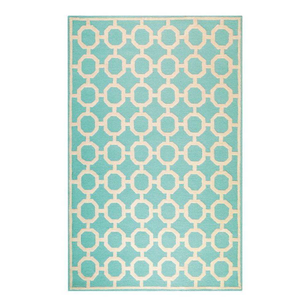 Home decorators collection espana aqua 4 ft x 6 ft area for Home decorators rugs