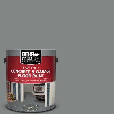 1 gal. #902 Slate Gray 1-Part Epoxy Satin Interior/Exterior Concrete and Garage Floor Paint